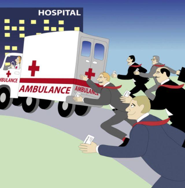 Ambulance Chasers II  2004  Linda Braucht (20th C. American) Computer graphics