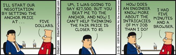 Anchoring Heuristic Dilbert