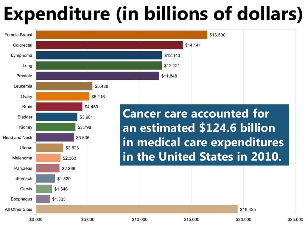 Cancers Spend Most On